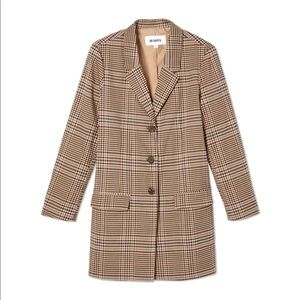 BB Dakota Check This Out Oversized Blazer, L